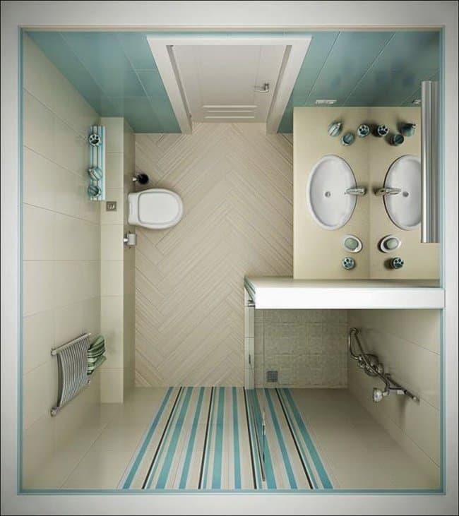 12 Trucos de decoración para cuartos de baño pequeños ...