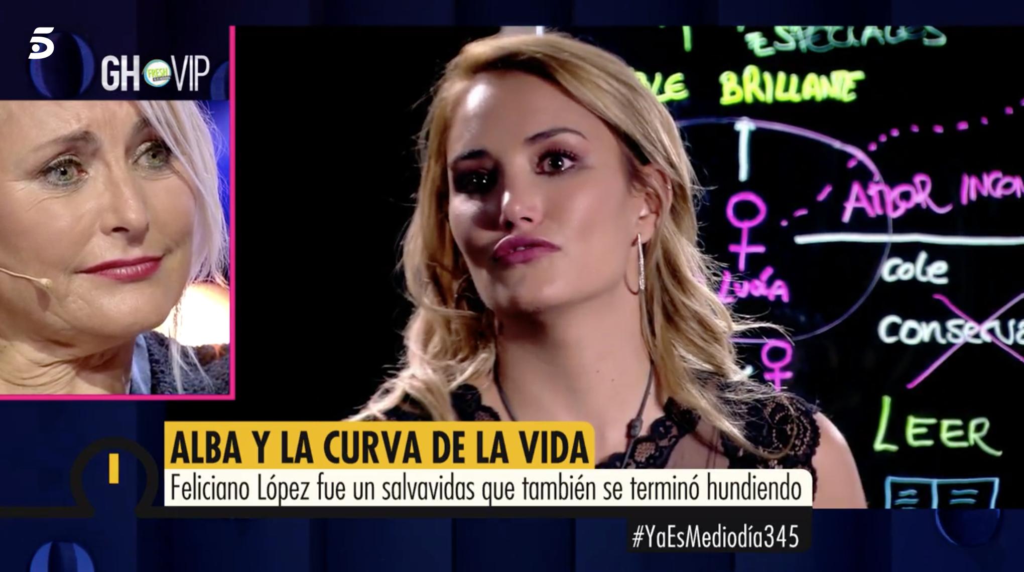 Alba Carrillo Altura alba carrillo, reprendida en directo por los responsables de